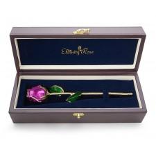 Rose violette émaillée à bouton serré
