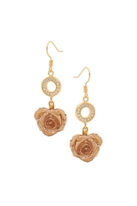 Boucles d'oreilles pétales de rose blanches
